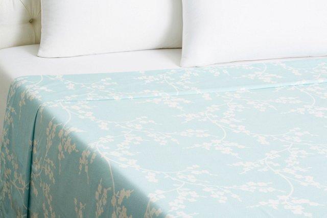 Queen Balade Flat Sheet, Light Blue