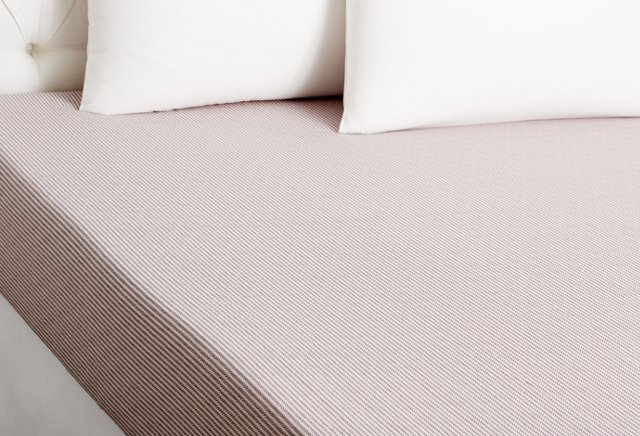 Silhouette Fitted Sheet, Poudre