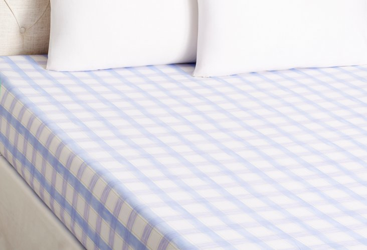 Queen Lola Fitted Sheet, Blue