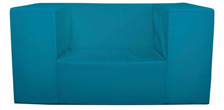 Outdoor Lowboy Alice Chair, Turquoise