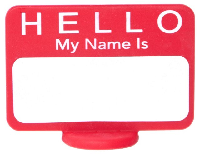 S/12 Name Tag Reusable Place Cards