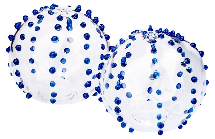 Turkish Salt & Pepper Shakers, Blue