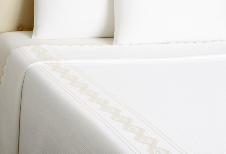 Tara Coverlet, White/Cream
