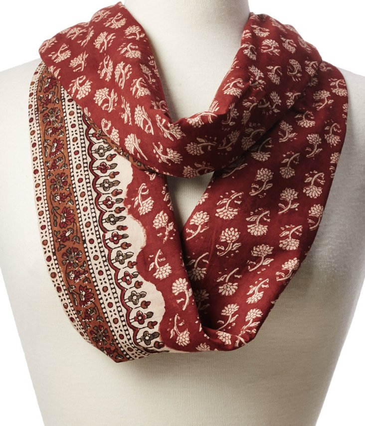 Prairie Red Infinity Scarf
