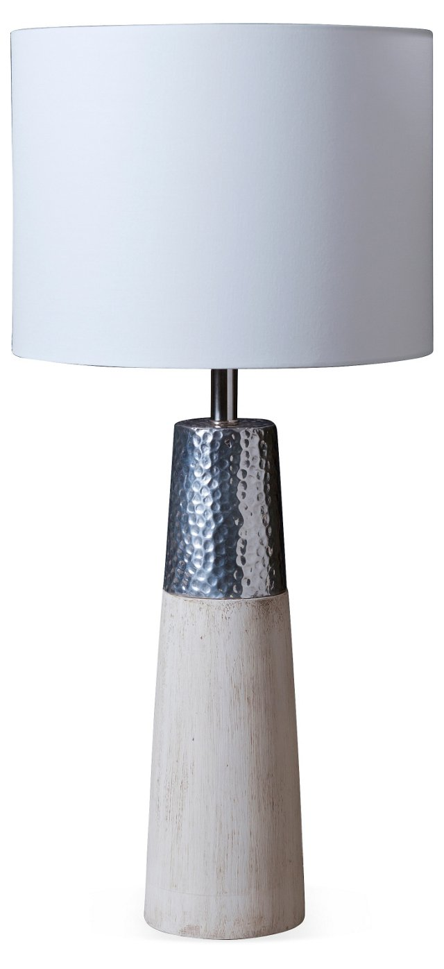 White/Silver Table Lamp
