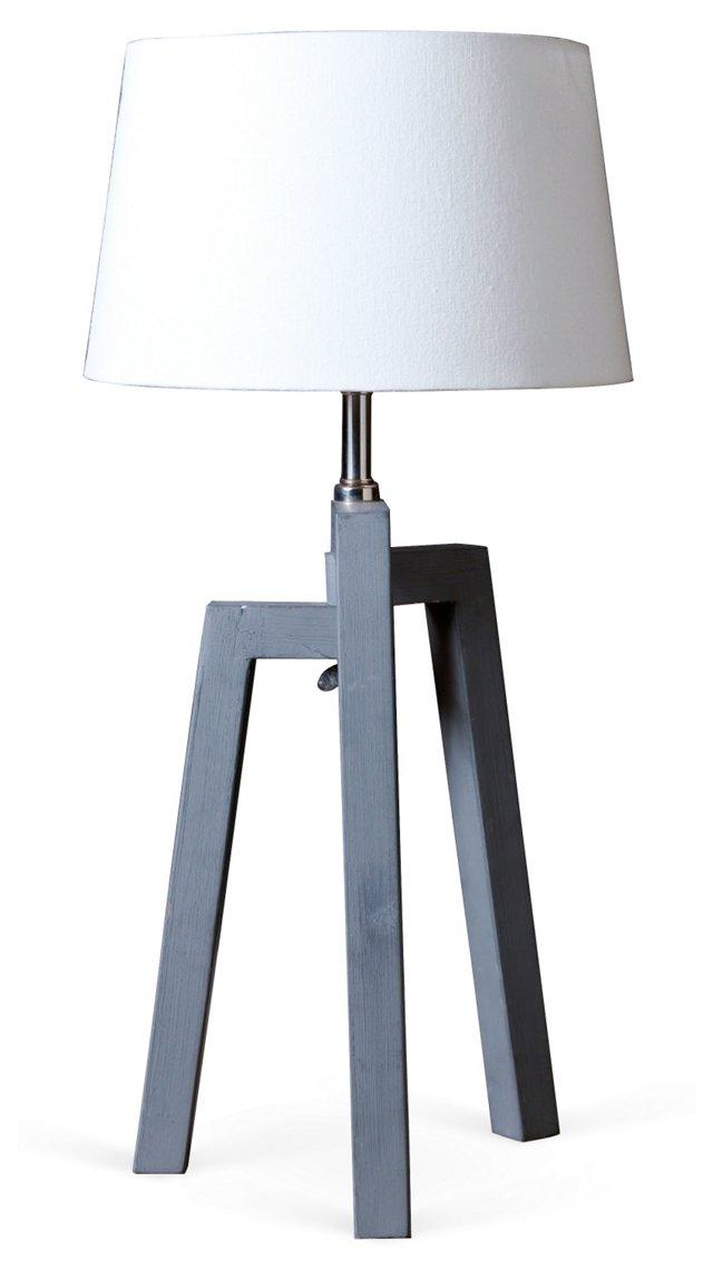 Three-Legged Table Lamp, Gray