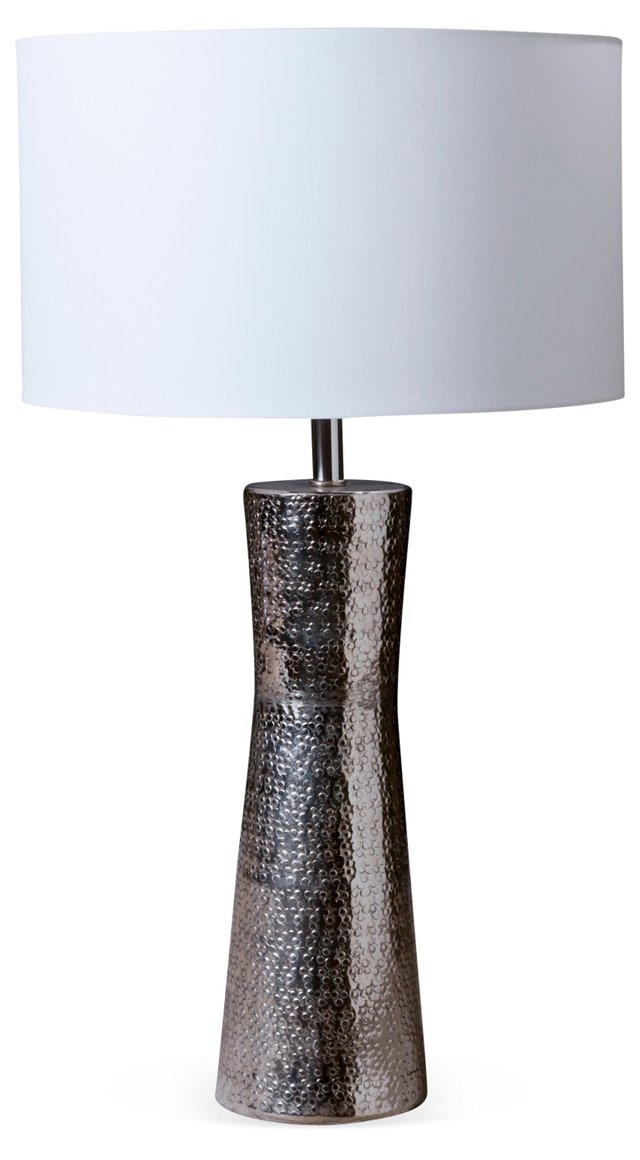 Silver Snake Table Lamp