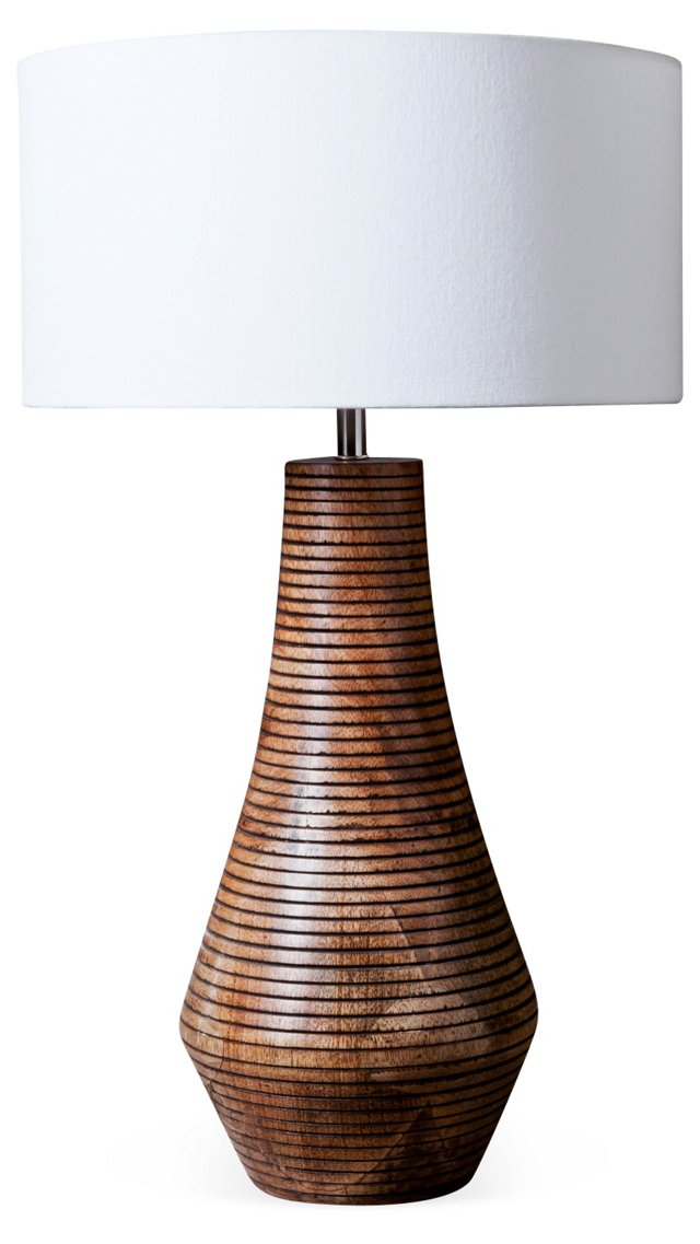 Lined Table Lamp, Tall