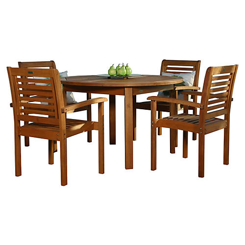 Milano Eucalyptus 5-Pc Round Set