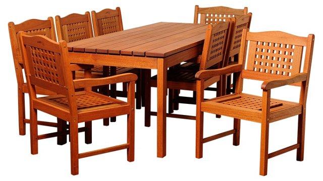 Angus 9-Pc Rectangular Dining Set