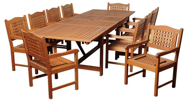 Mitt 11-Pc Extendable Dining Set