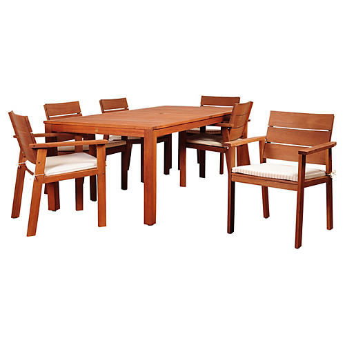 Holgate Eucalyptus 7-PC Dining Set