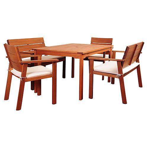 Holgate Eucalyptus 5-PC Dining Set