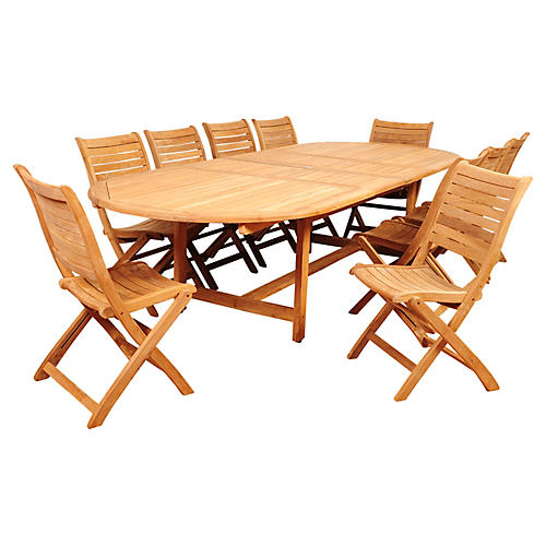 Newport Eucalyptus 11Pc Extending Dining