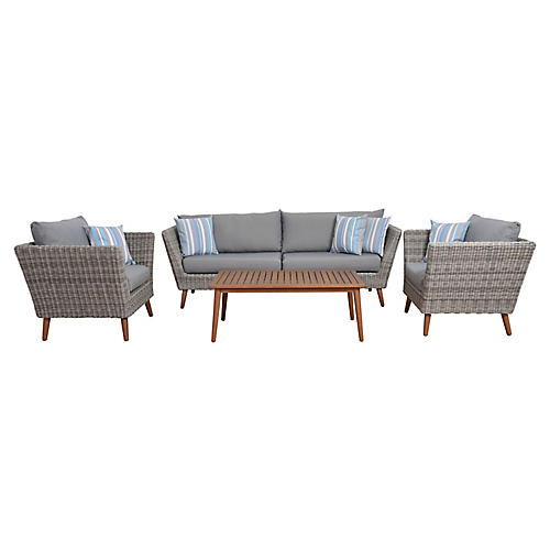 4-Pc Amazonia Barcelona Set, Gray