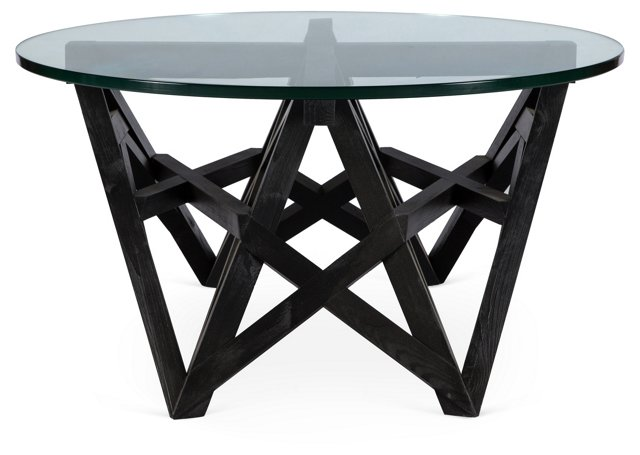 Beau Round Side Table, Black
