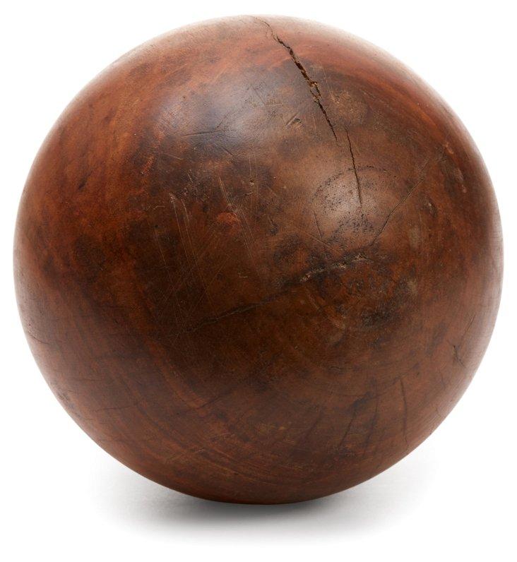 """11"""" Eucalyptus-Wood Orb, Brown"""