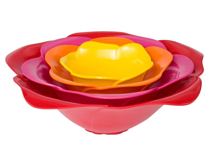 4-Pc Rose Serve Bowl Set