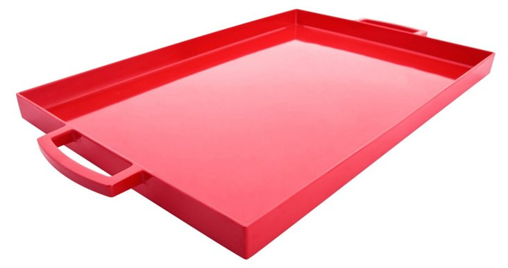 "Red Serving Tray, 19.5"" x 11.5"""