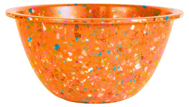 S/6 Confetti Bowls, Orange