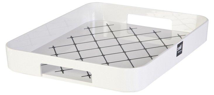 Gallery White No-Slip Tray, White