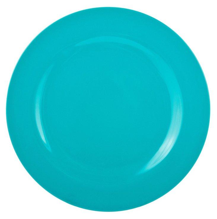 S/6 Melamine Ella Dinner Plates, Teal