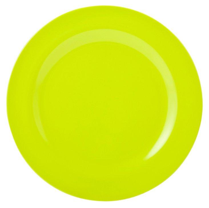 S/6 Melamine Ella Dinner Plates, Kiwi
