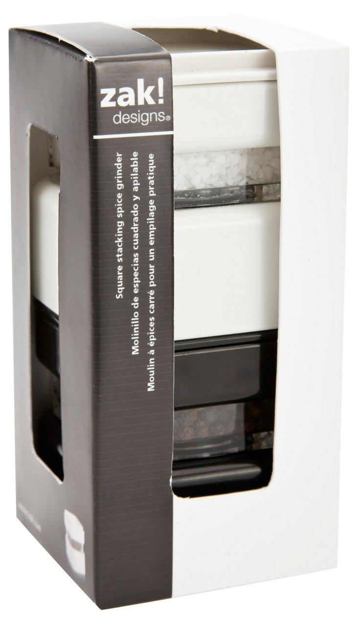 2-Pc Stacking Mill Set, Black/White