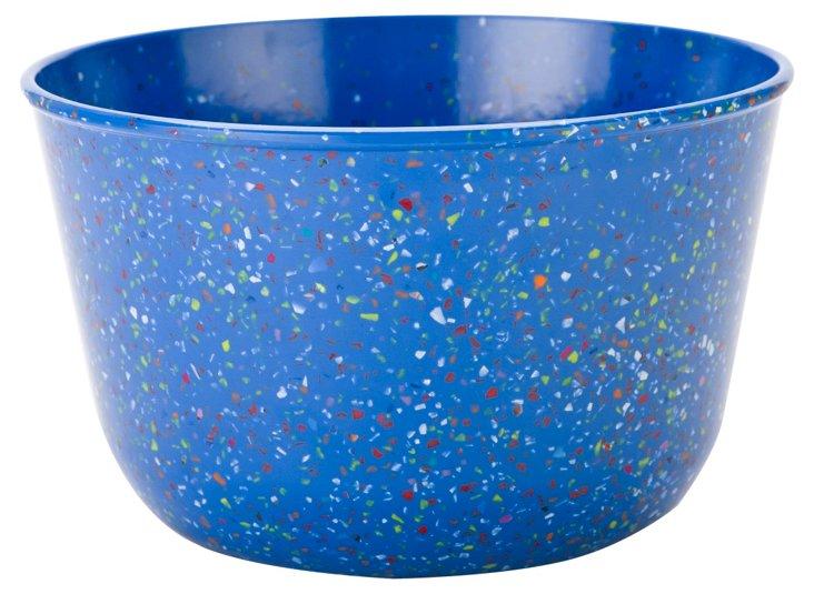 Large Confetti Serving Bowl, Blue