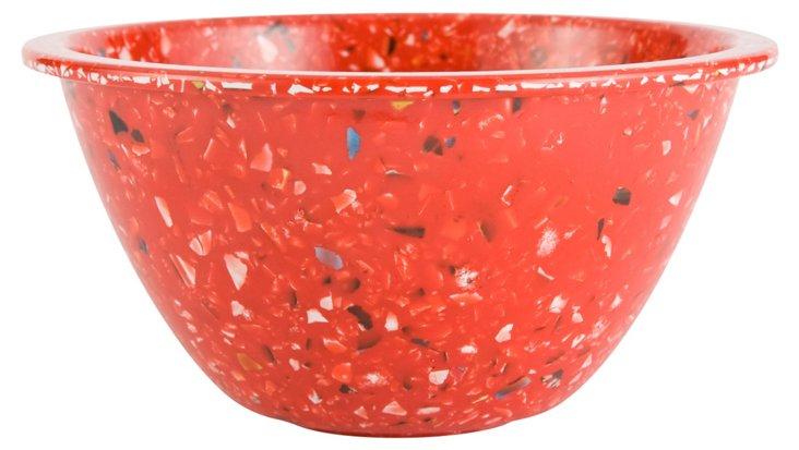 S/6 Melamine Confetti Bowls, Red