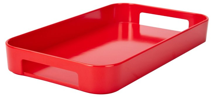 Gallery Skinny Rect Tray, Red