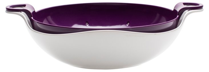 2-Pc Luna Colander/Bowl Set, Grape