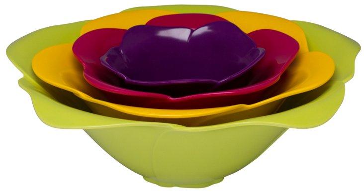 Asst of 4 Serving Bowls, Flora