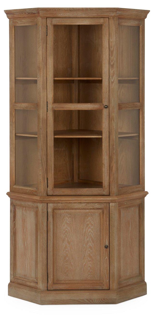 Fairway Corner Cabinet, Natural