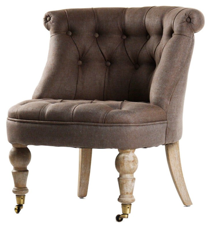Cassia Accent Chair, Coffee