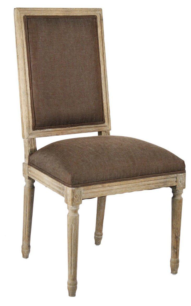 Valeria Side Chair, Chocolate