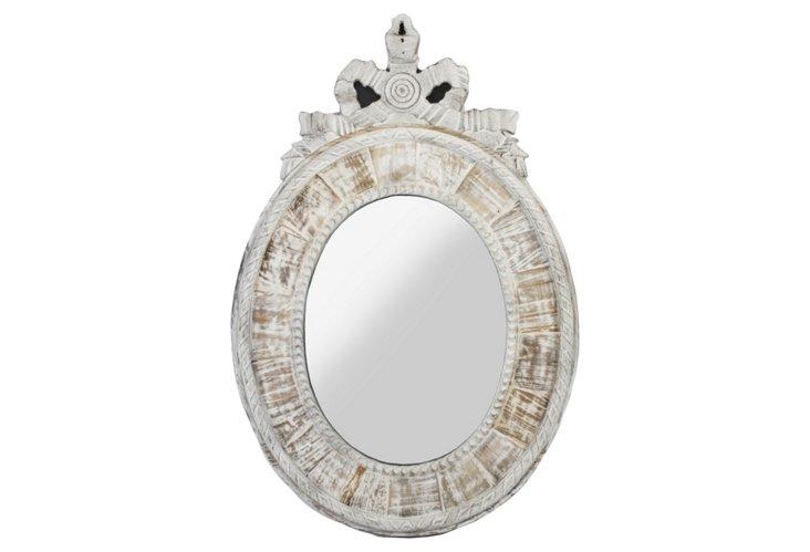 Jackson Wall Mirror, Whitewash