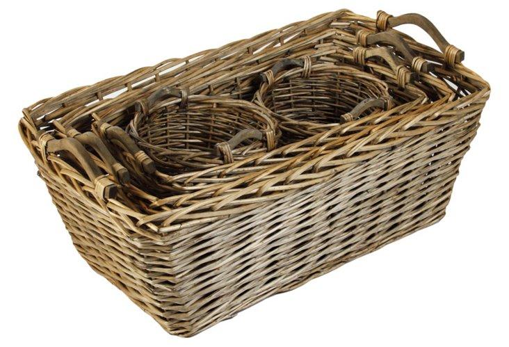 French Market Basket, Set of 4