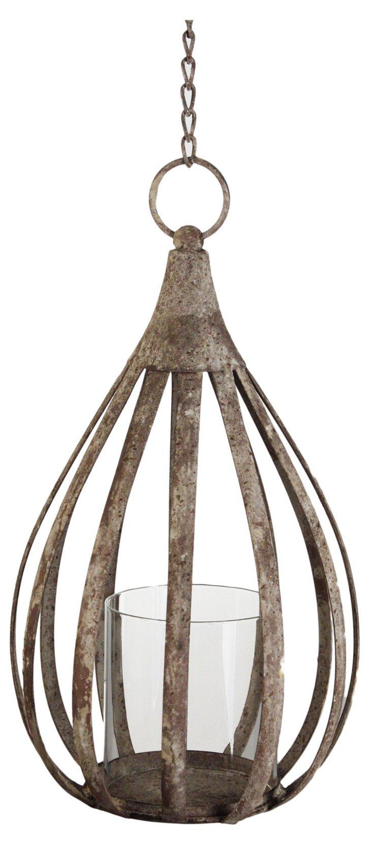 """14"""" Metal Hanging Lantern"""