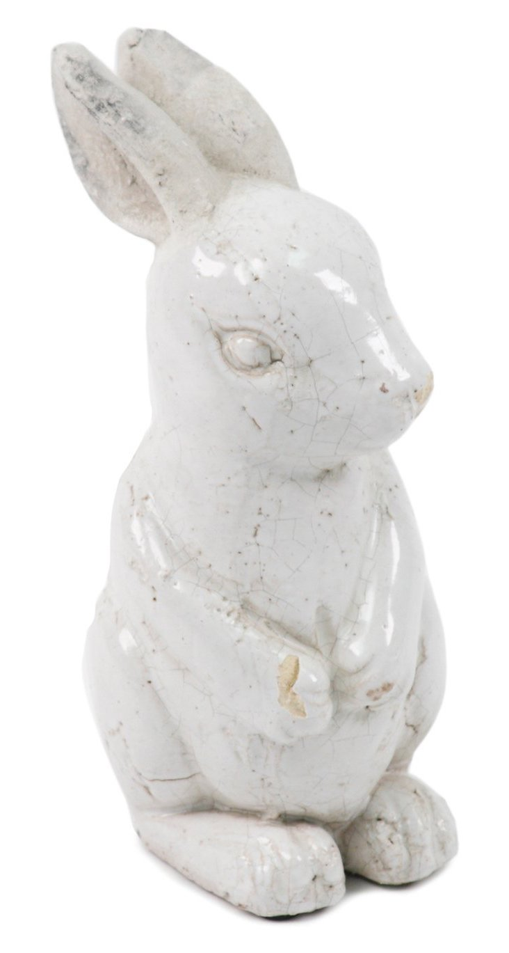 "14"" Rabbit Objet, White"