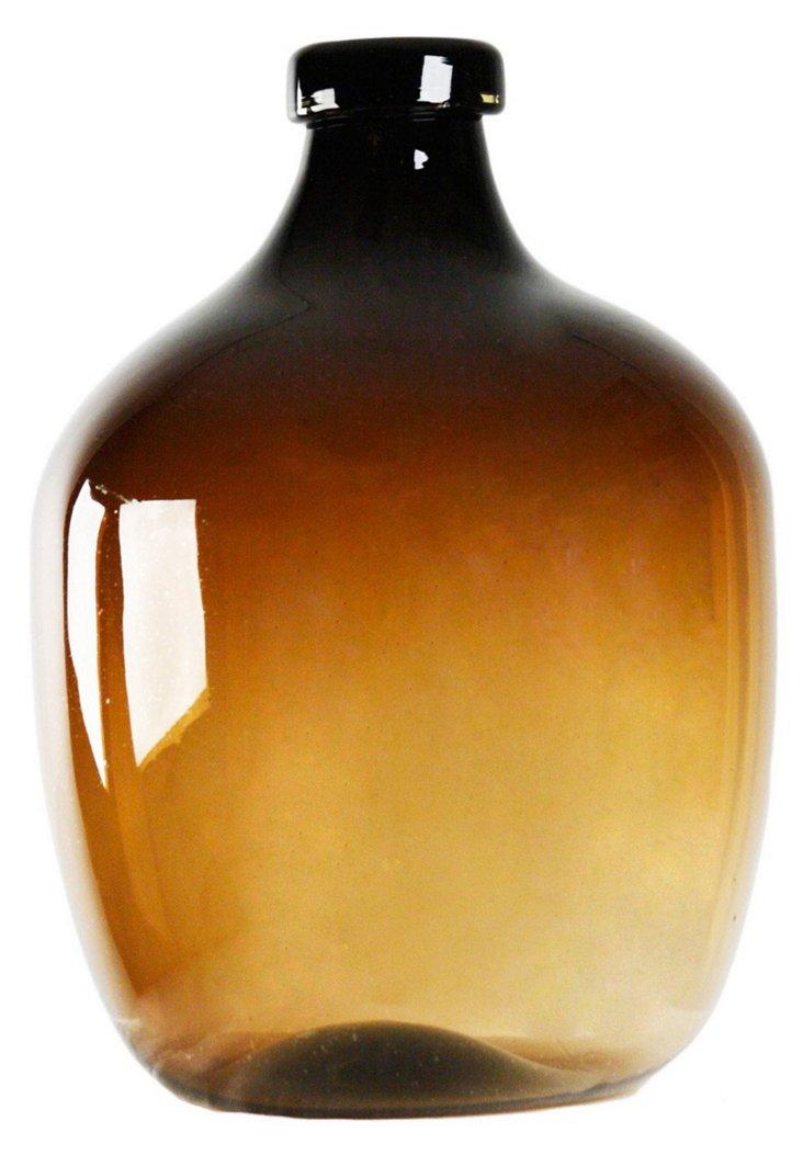 "20"" Jug Vase, Amber"