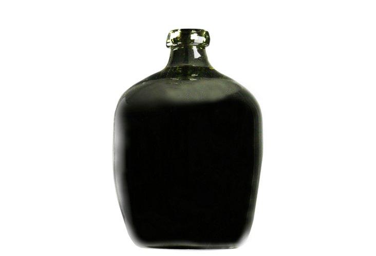 """20"""" Glass Jug Vase, Black"""
