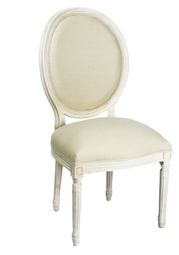 Isabella Side Chair, Antiqued White