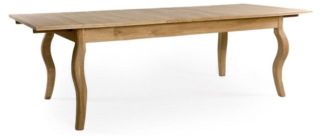 "Rhone 79-91"" Extension Dining Table, Oak"
