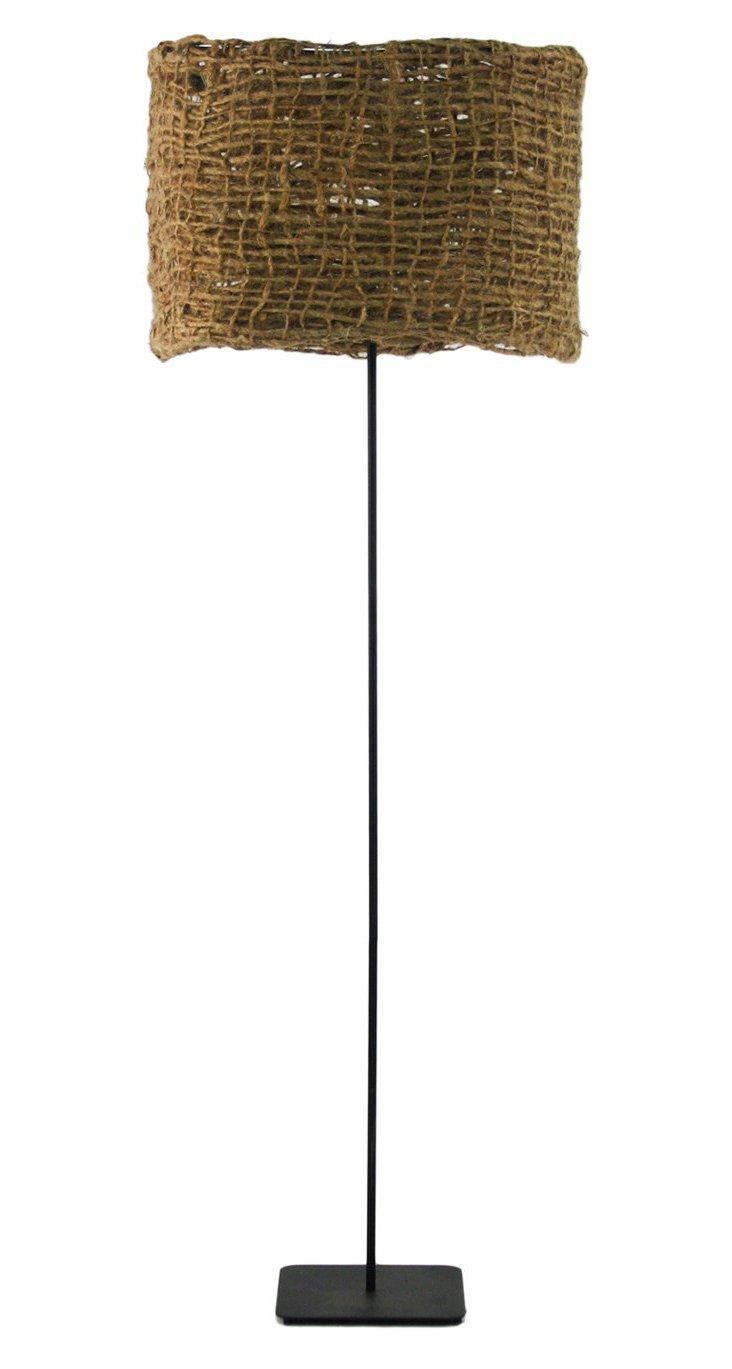 Jute Net Floor Lamp