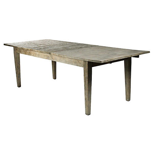 """Woodmont 78"""" Dining Table, Limed Gray"""