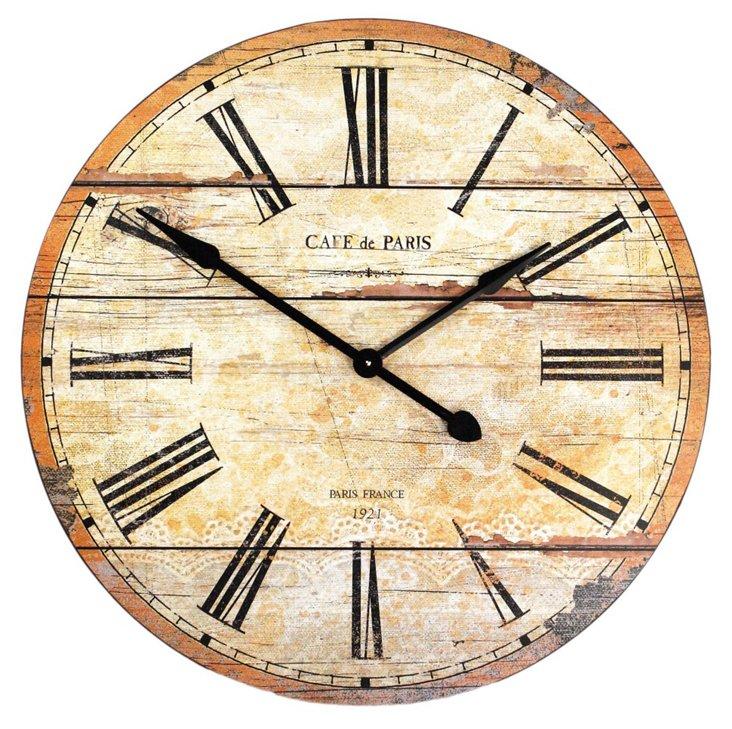 Paris Café Clock