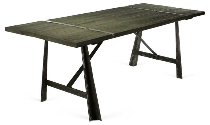 "Chesley 87"" Dining Table, Charcoal"
