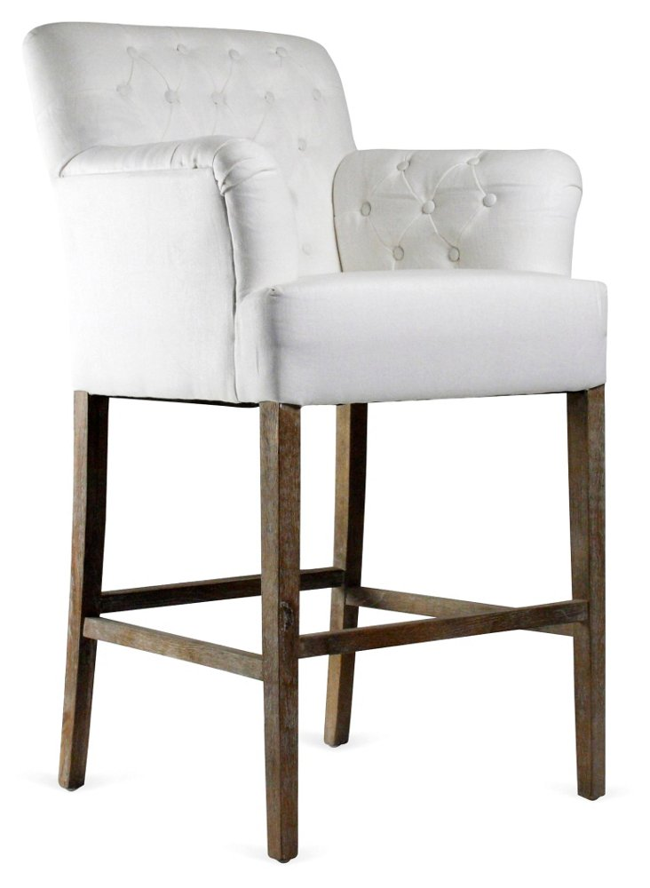 Barrois Tufted Barstool