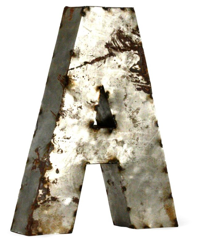 Metal Letter, Small